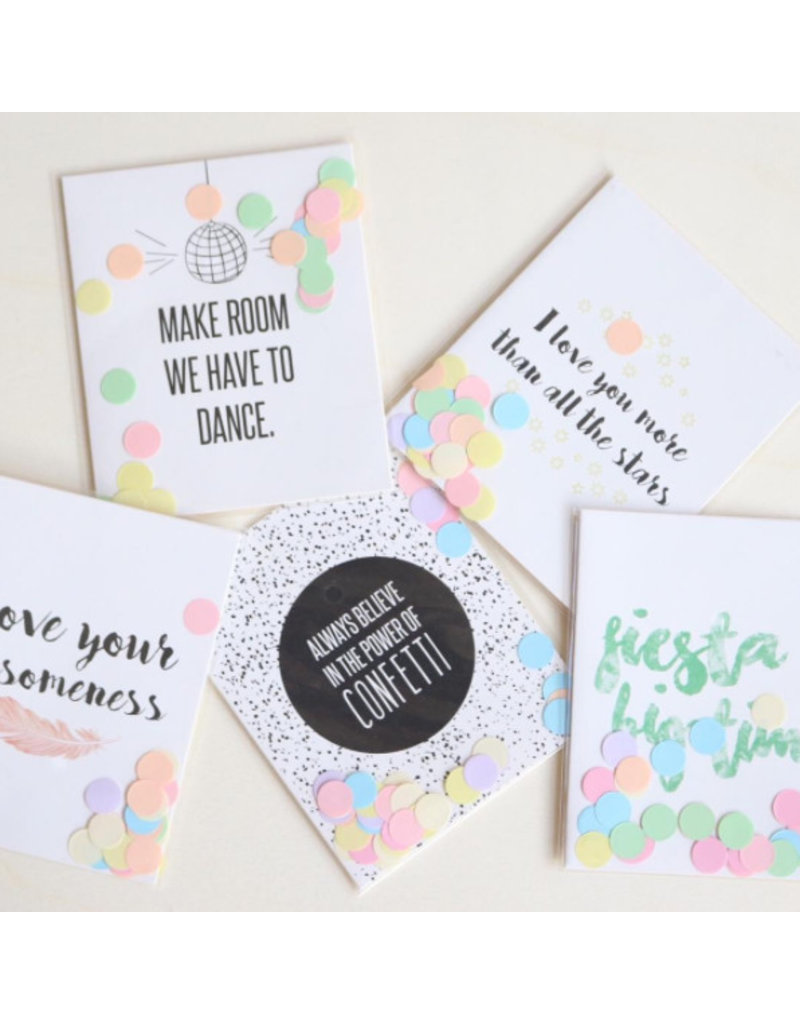 The Gift Label Confetti kaart big hug