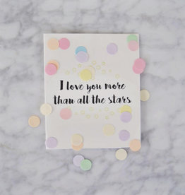 The Gift Label Confetti kaart love