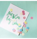 The Gift Label Confetti kaart fiesta