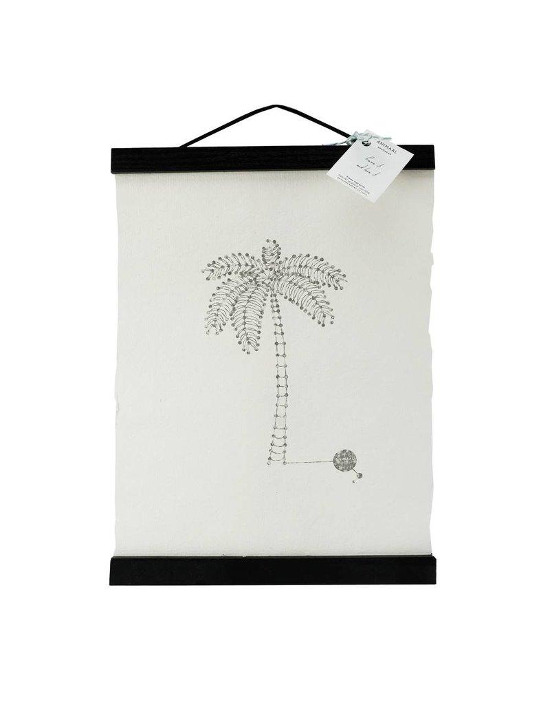 Animaal Amsterdam Palmboom print zwart frame