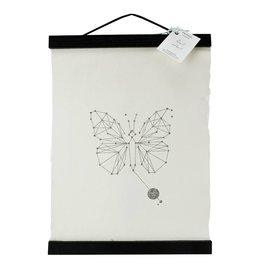 Animaal Amsterdam Vlinder print zwart frame