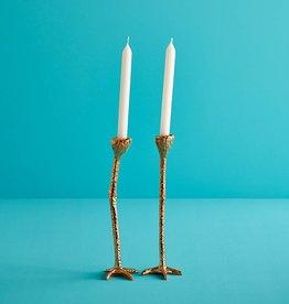 Gouden poten kaarsenstandaard