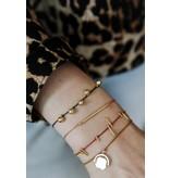 ANNA+NINA Twig thread armband slate goud