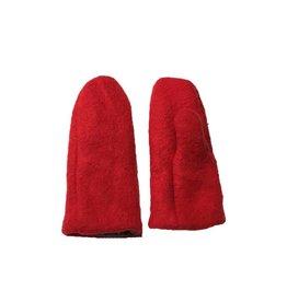 Wintervacht Rode wanten van duurzame wol