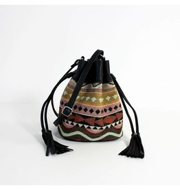 Return Bucket bag jacquard