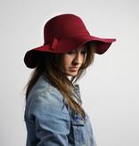 Return Bordeauxrode hoed
