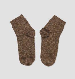 PiNNED by K Glitter sokken goudbruin