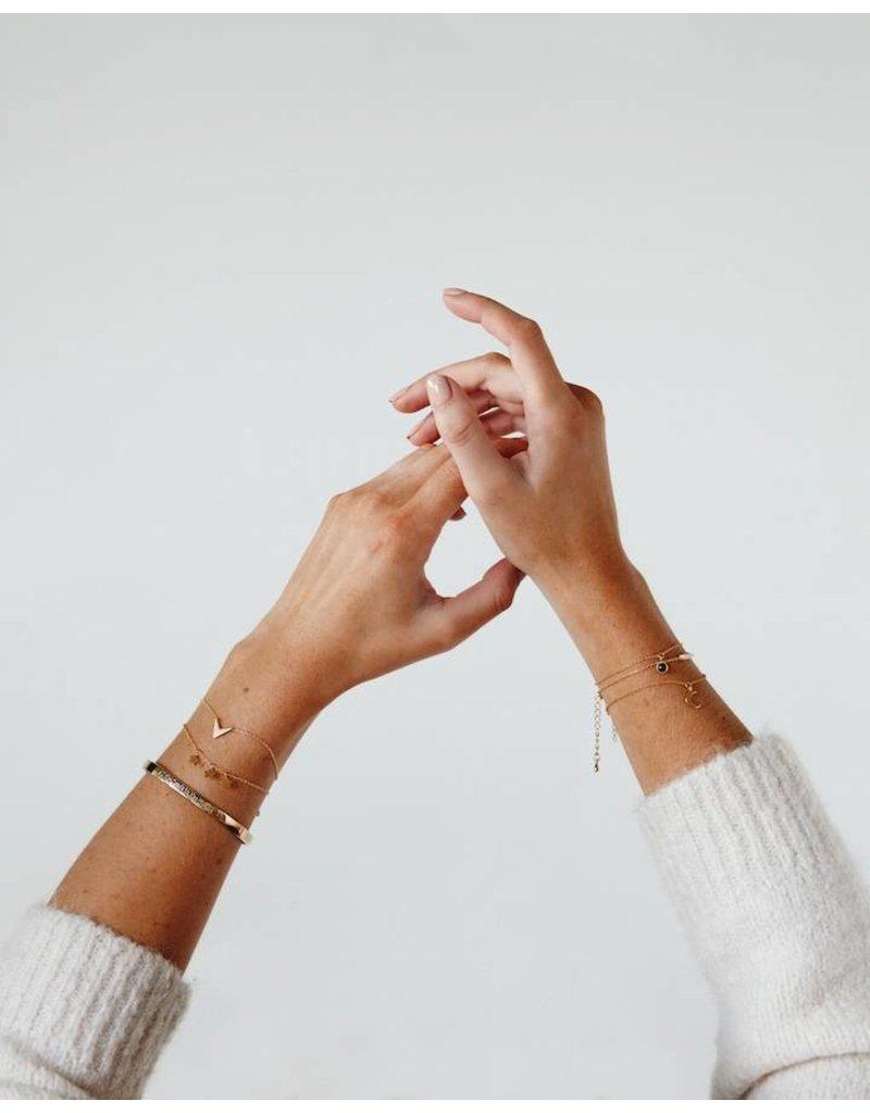 All the Luck in the World Zilveren armband met geluksoog