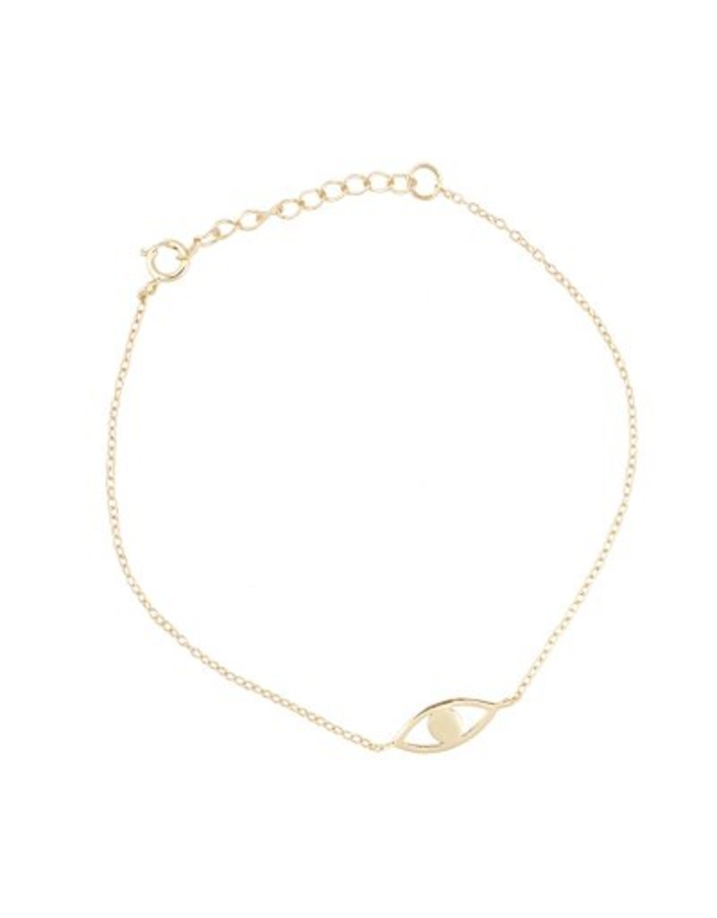 All the Luck in the World Gouden armband met geluksoog