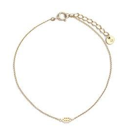 Riverstones Gouden armband met Jordaan huisje