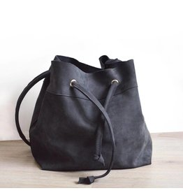 Solitude is Bliss Antracietgrijze bucket bag