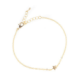 All the Luck in the World Gouden armband met ster