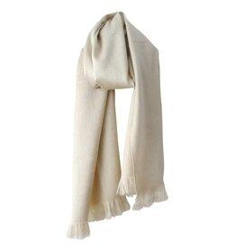 Bufandy Ivoorkleurige sjaal van Alpacawol