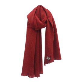 Bufandy Donkerrode sjaal van Alpacawol