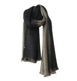 Bufandy Sjaal zwart/zand van Alpacawol