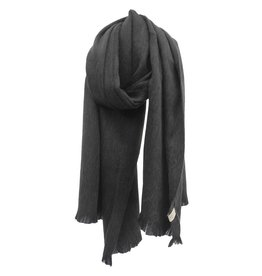 Bufandy Antracietgrijze sjaal van Alpacawol