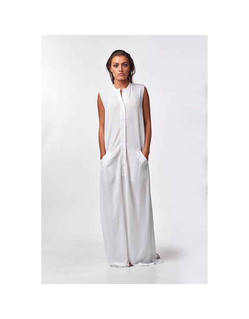 Witte maxi jurk