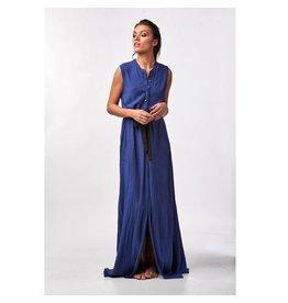 Stieglitz Blauwe maxi jurk