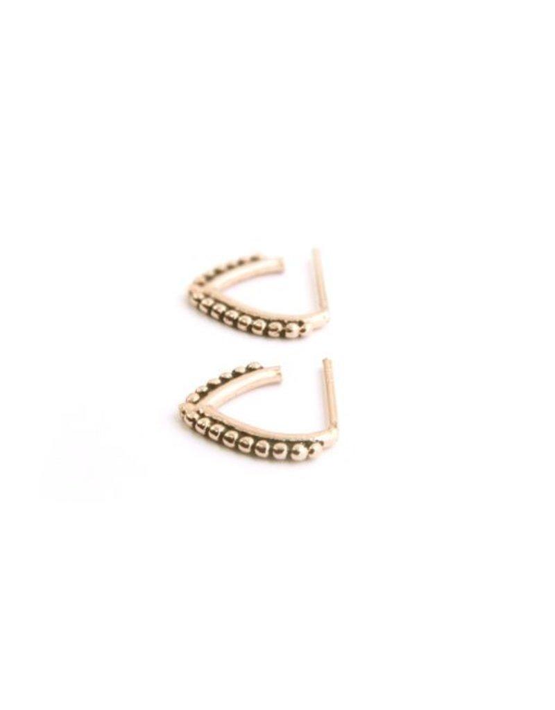 MIAB Jewels Pointy dots oorbellen goud