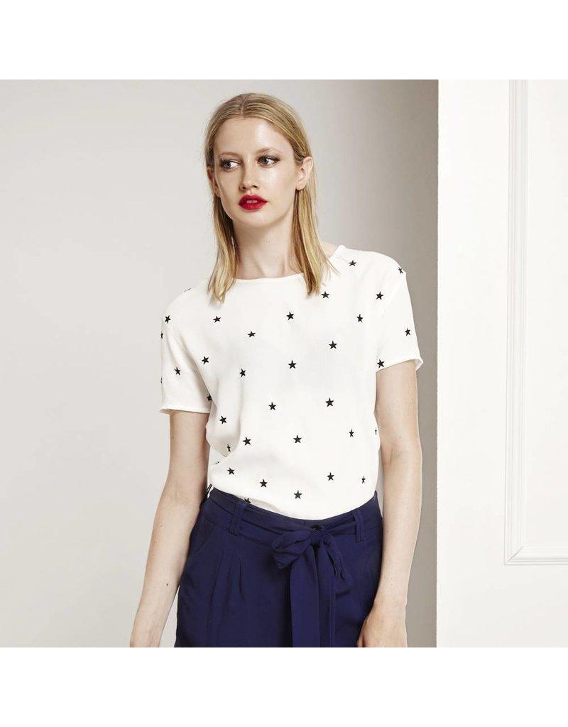 Fabienne Chapot Witte top met sterren