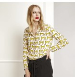 Fabienne Chapot Blouse met cheetahs