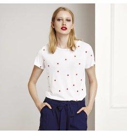 Fabienne Chapot Wit T-shirt met hartjes