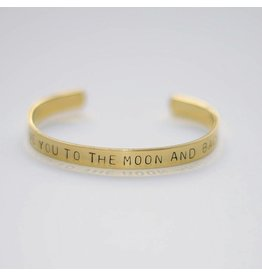 Hartje Amsterdam Gouden armband love you to the moon and back