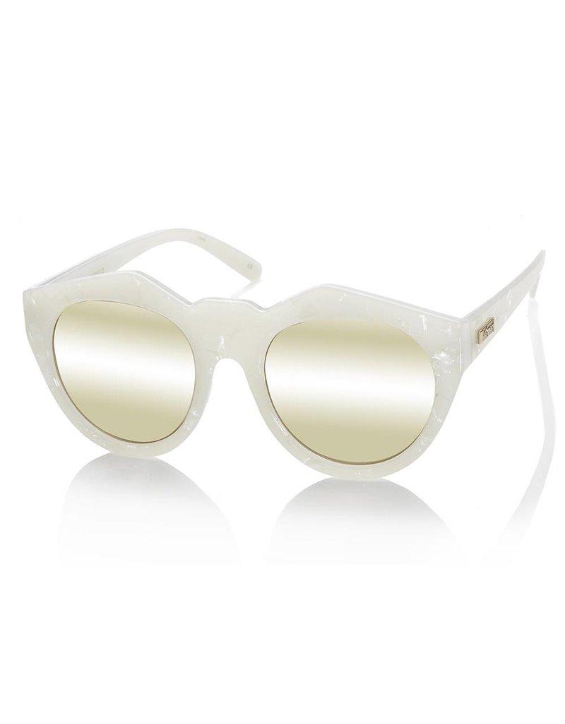 Le Specs Neo Noir White Marble Zonnebril