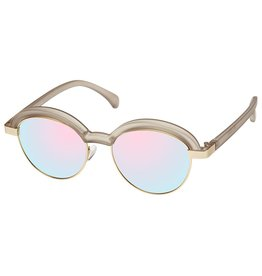 Le Specs Slid Lids Matte Stone Gold Zonnebril