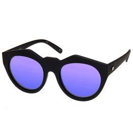 Le Specs Neo Noir Black Rubber Zonnebril
