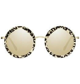 Le Specs Hey Yeah Leopard/Gold Zonnebril
