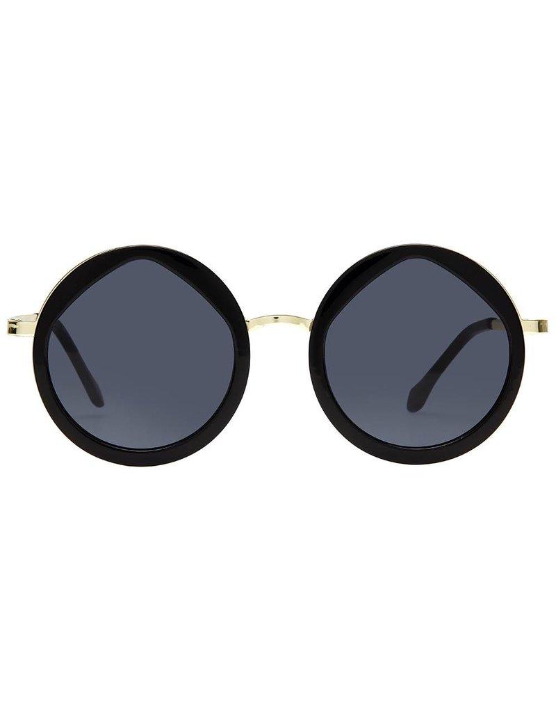 Le Specs Hey Yeah Black/Gold Zonnebril