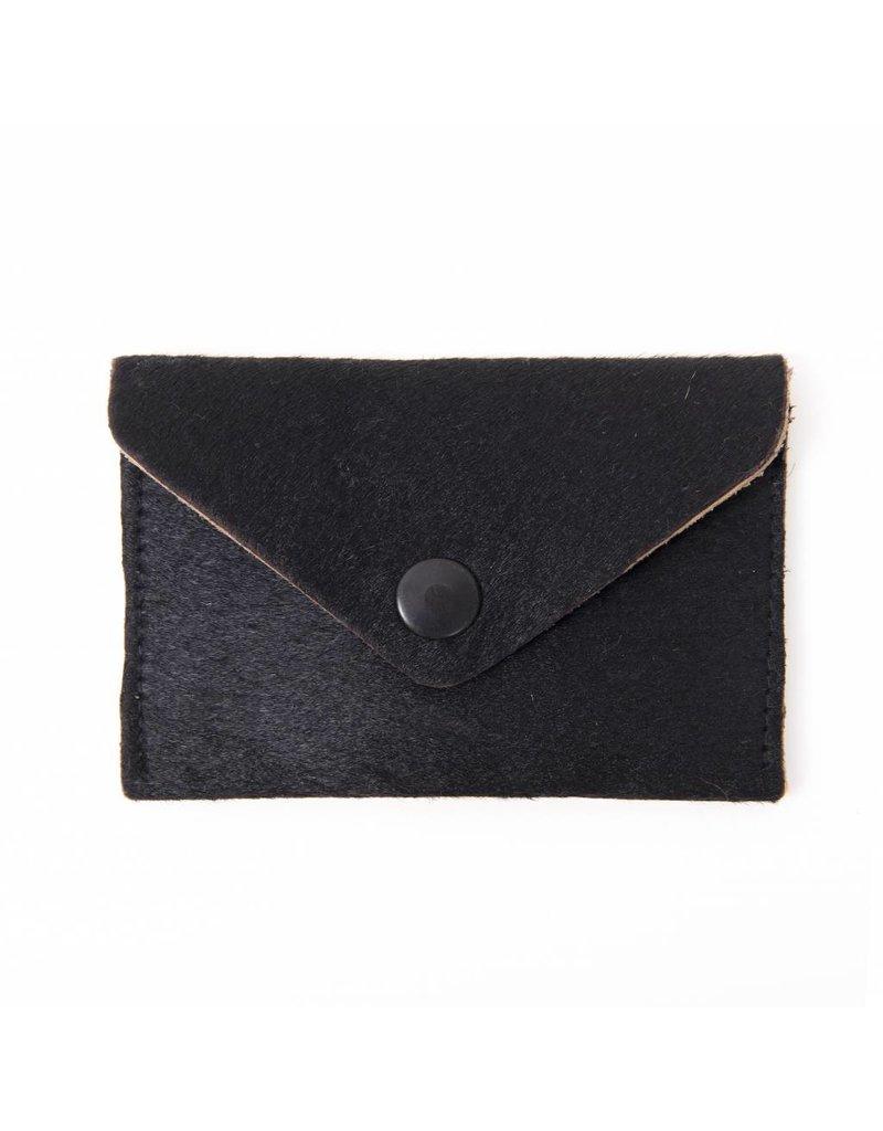 A la 'Kush' Pony Hair Wallet Black