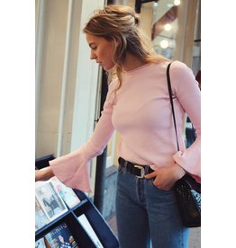 Daylliance Pink bell sleeve top