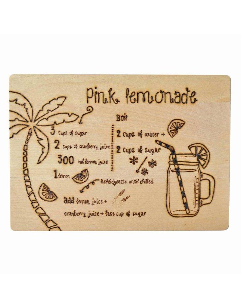 Gekkiggeit Snijplank pink lemonade