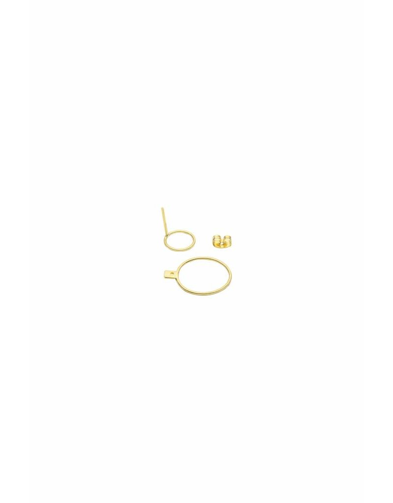 Wildthings Double trouble earring gold