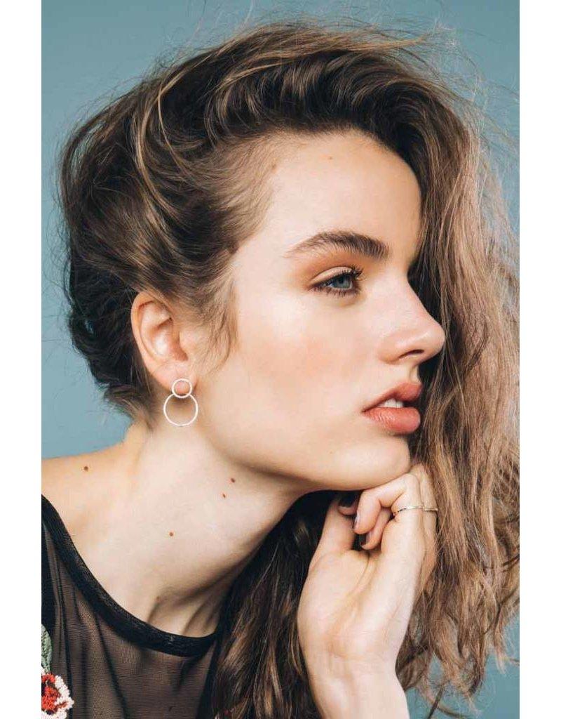 Wildthings Double trouble earring silver - Copy