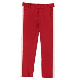Turquoise by daan Rode broek met witte streep