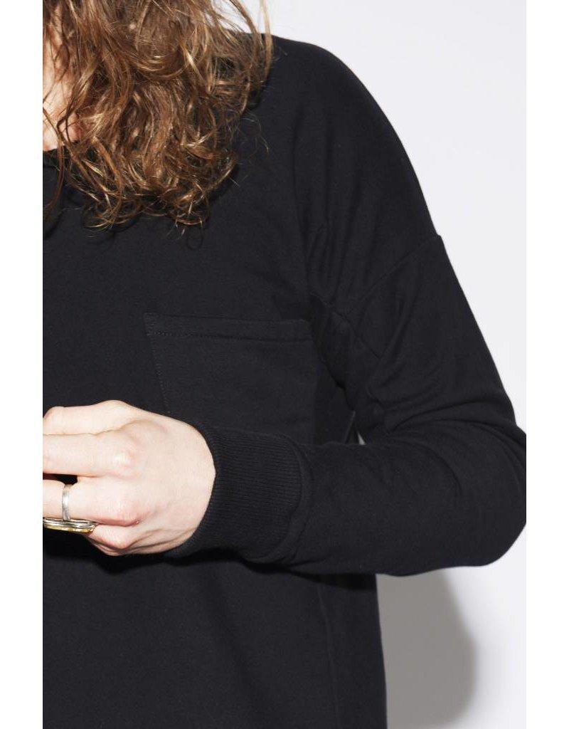 Yunit Zachte zwarte trui