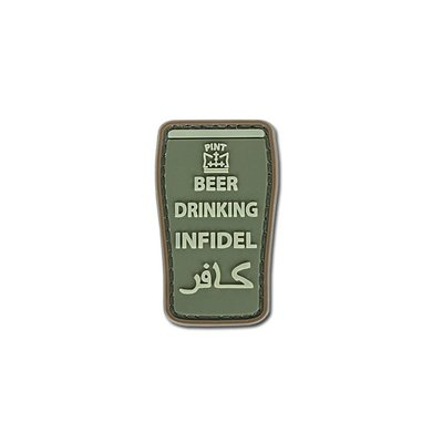 4TAC Beer Drinking Infidel Patch (Olive)