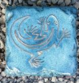 Motiv Pflasterstein Eidechse in taubenblau, absolut frostfest