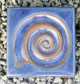 Motiv Pflasterstein Schnecke in himmelblau, absolut frostfest