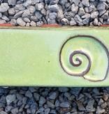 Motiv Pflasterstein Schnecke, lang, lindgrün, absolut frostfest