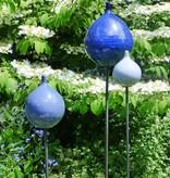 Keramik-Zwiebel himmelblau