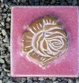 Motiv Pflasterstein Rose in der Farbe Flieder ,absolut frostfest