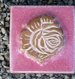 Motiv Pflasterstein Rose, flieder