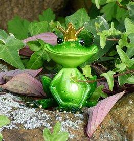 Froschkönig klein , grün, sitzend