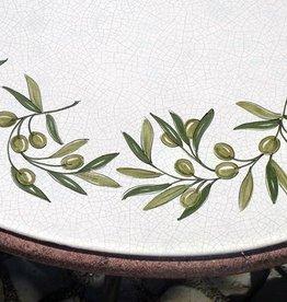 Lavasteintisch mit Keramikglasur handbemalt,  frostfest