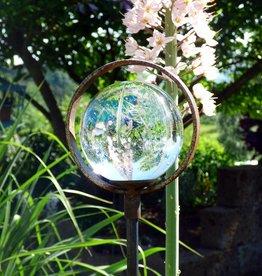Glaskugel auf Dekostab mit Einfachring