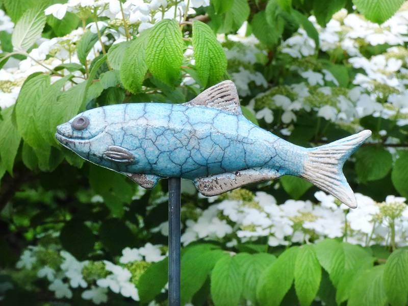 Handgetöpferte Keramik- Forelle